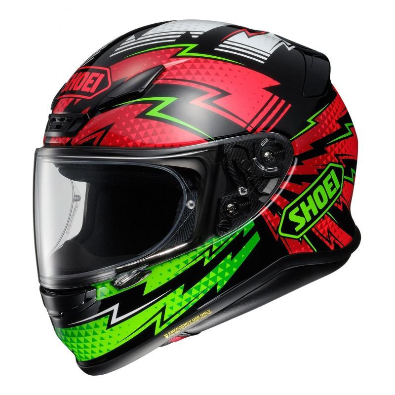 Casque intégral Shoei NXR Variable TC-4 noir/rouge/vert