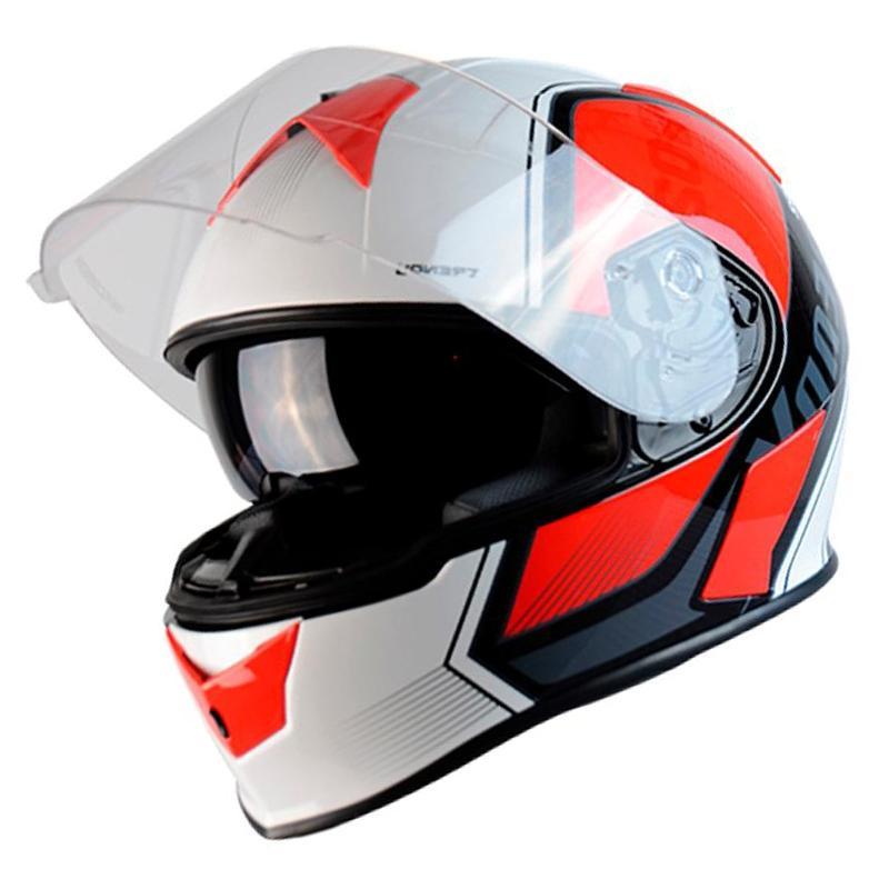 Casque intégral Trendy T-602 Ready noir / blanc / rouge verni