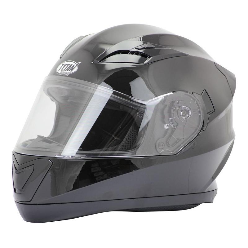 Casque integral Tytan road Rider noir brillant