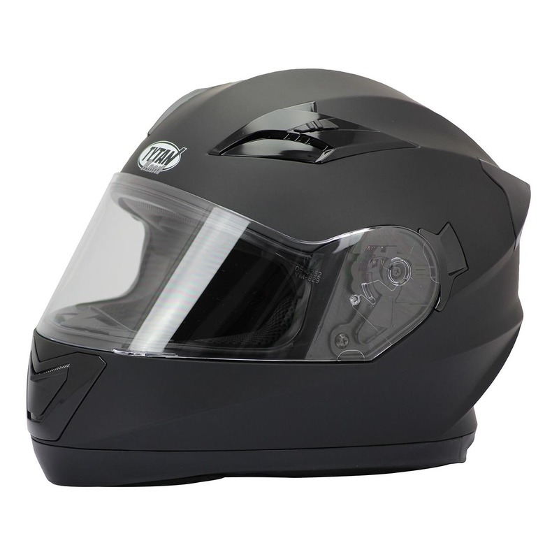 Casque integral Tytan road Rider noir mat