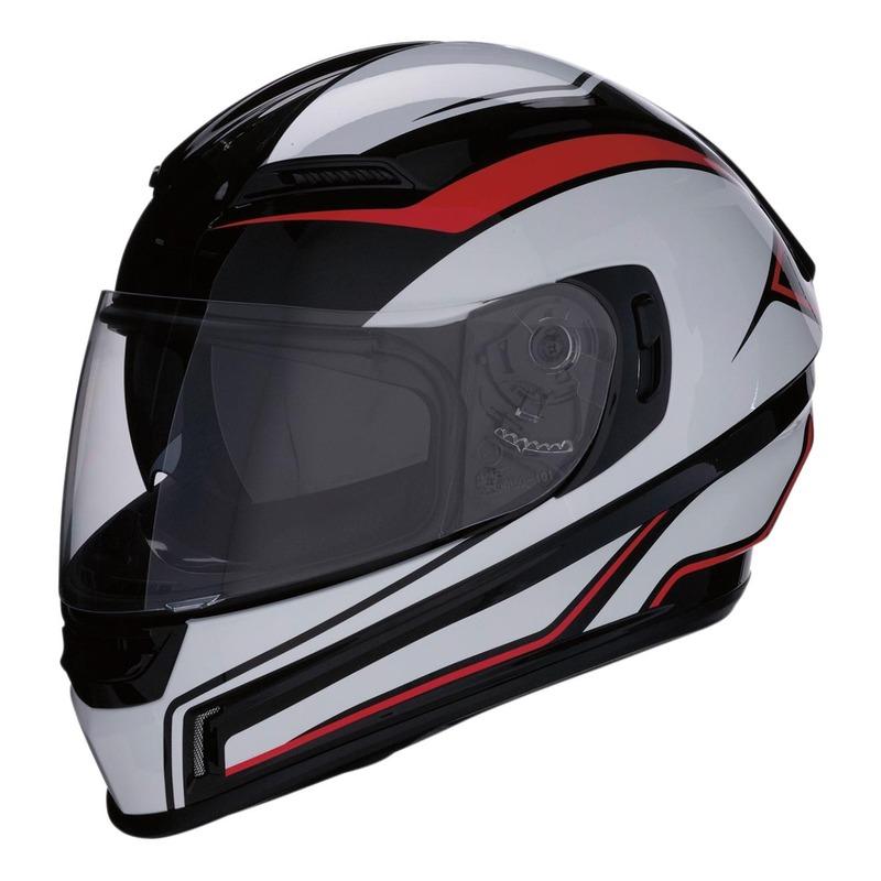 Casque intégral Z1R Jackal Aggressor rouge/noir/blanc brillant
