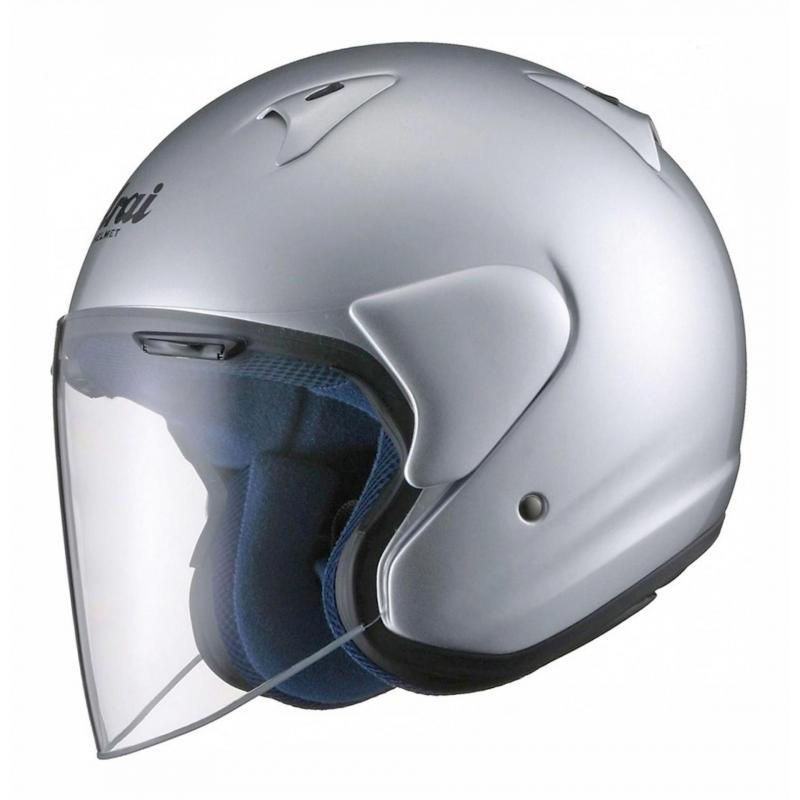 Casque jet Arai SZ-F Aluminium Silver