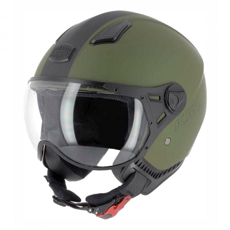 Casque jet Astone KSR 2 vert/noir