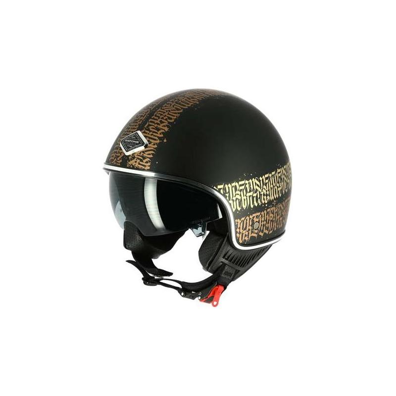 Casque jet Astone MINIJET 66 Abstract Cali noir/or mat