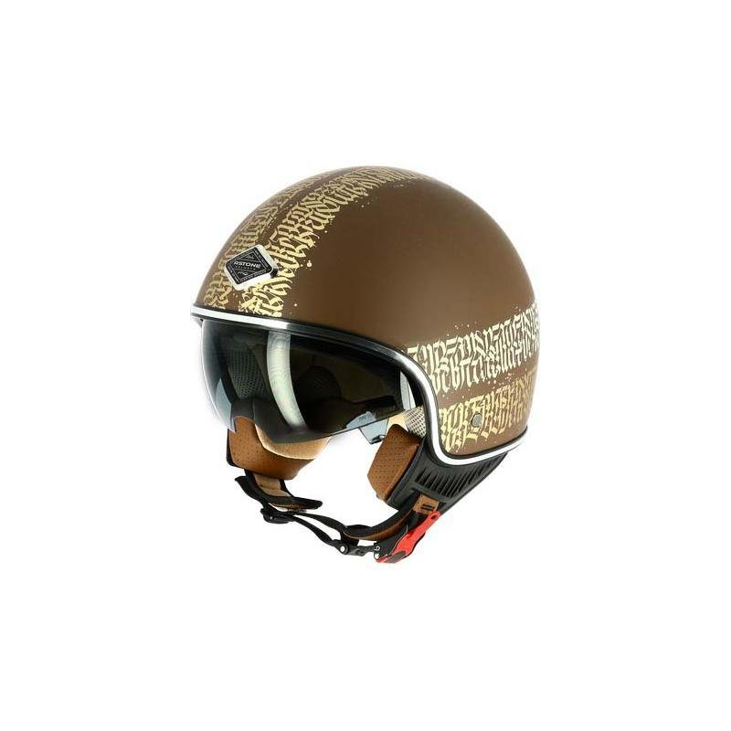 Casque jet Astone MINIJET 66 Abstract Cali marron/or mat