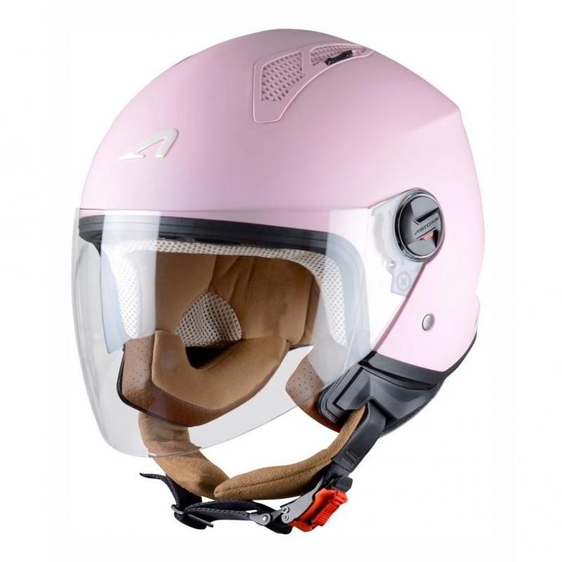Casque Jet Astone Minijet Monocolor Flamingo