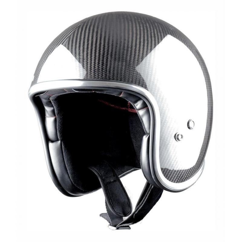 Casque jet Astone VINTAGE graphic carbone/noir