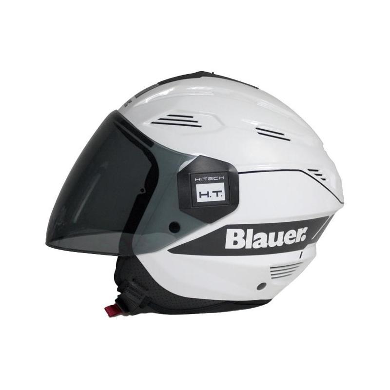 Casque jet Blauer Bratt blanc/noir
