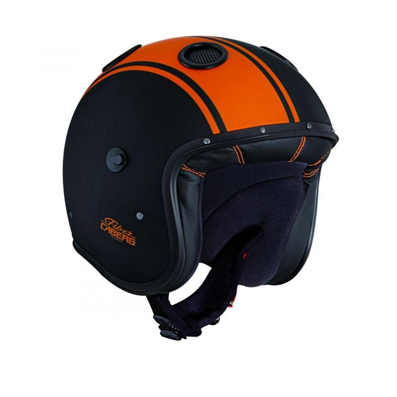 Casque jet Caberg Doom Legend noir / orange mat