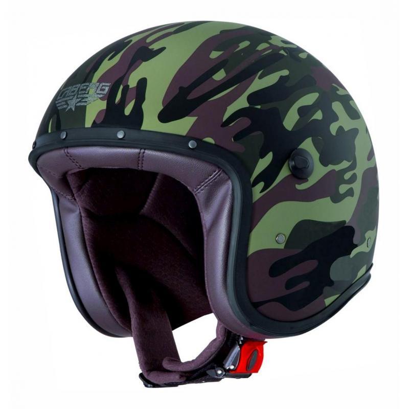 Casque jet Caberg Freeride Commander vert mat / noir
