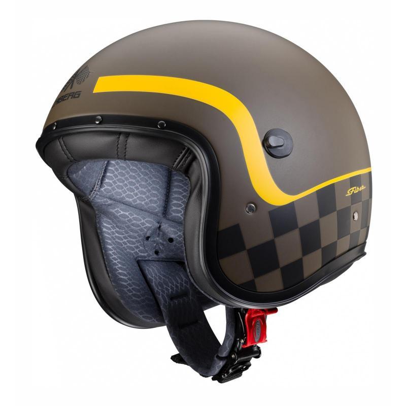 Casque jet Caberg Freeride Formula marron mat/jaune