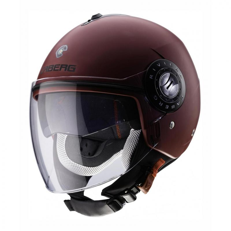 Casque jet Caberg Riviera V3 red wine mat