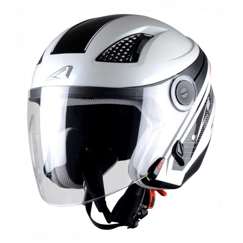 Casque Jet femme Astone Dj10 Graphic Exclusive Bel Air blanc/noir