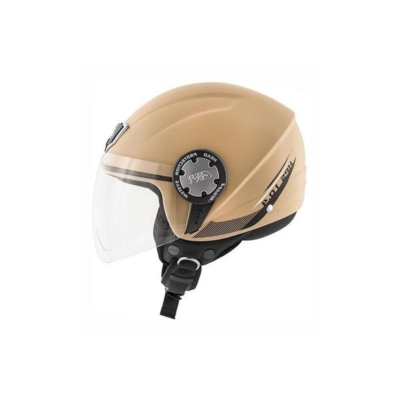 Casque jet Givi 10.4F Solid Color sable mat