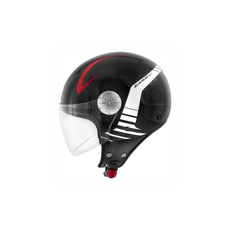 Casque jet Givi 10.7 Mini-J Graphic Icarus noir/blanc/rouge