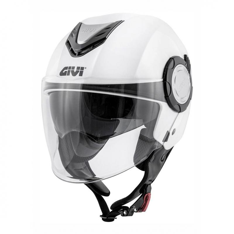 Casque jet Givi 12.4 Future Solid Color blanc