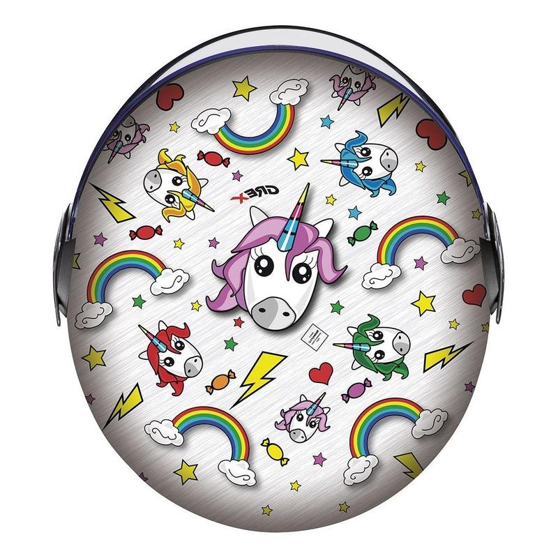 Casque jet Grex G1.1 Artwork Unicorn multicolore
