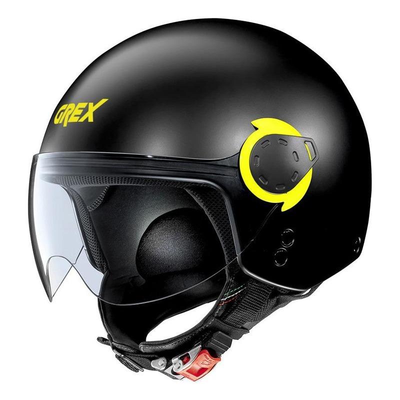 Casque jet Grex G3.1E Couplé Mat noir/jaune