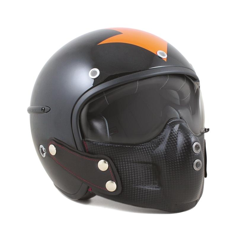 Casque jet Harisson Corsair Harrow noir/orange