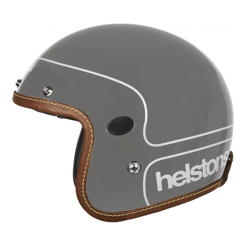 Casque jet Helstons Corporate Carbone gris
