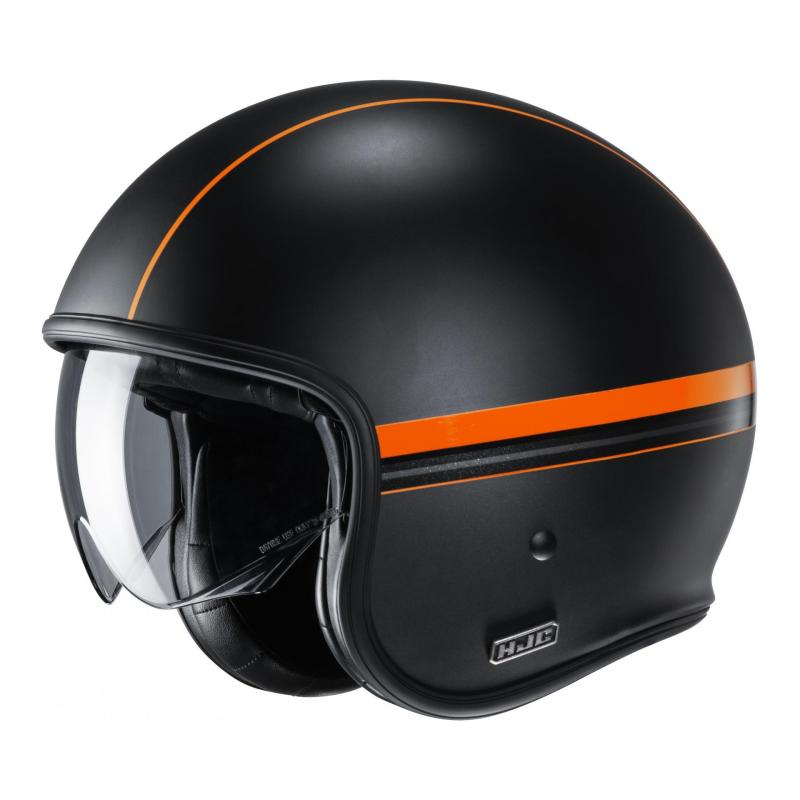 Casque jet HJC V30 Equinox MC7SF noir/orange mat