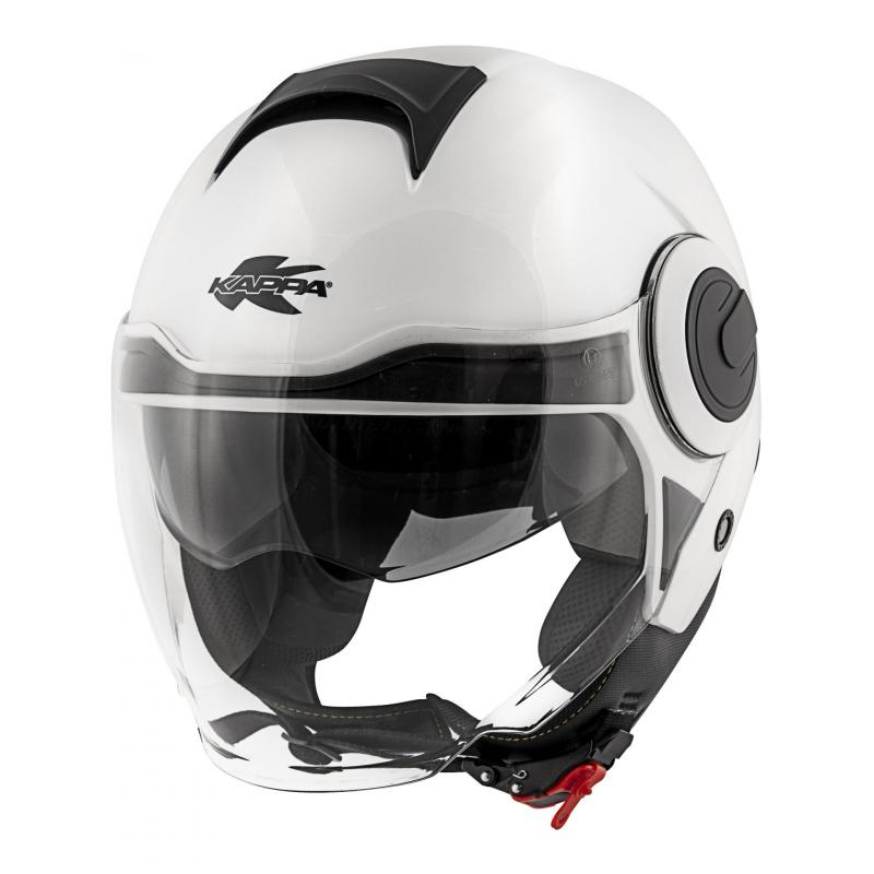 Casque jet Kappa KV37 Oregon Basic blanc verni