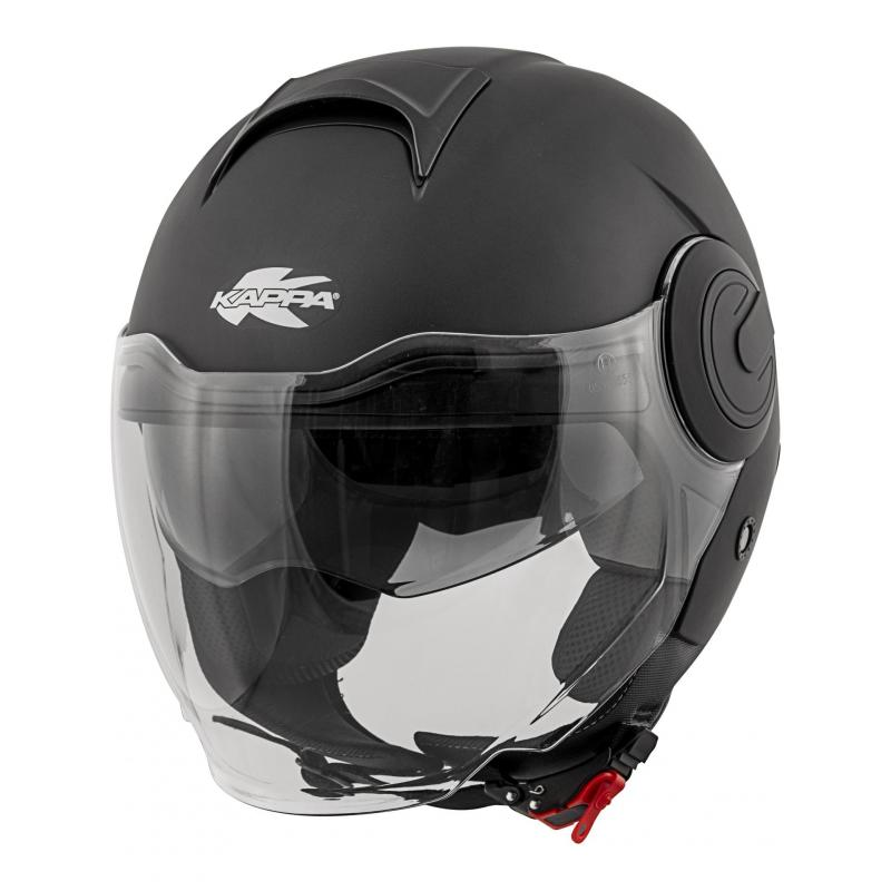 Casque jet Kappa KV37 Oregon Basic noir mat