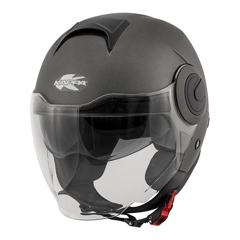 Casque jet Kappa KV37 Oregon Basic titanium mat