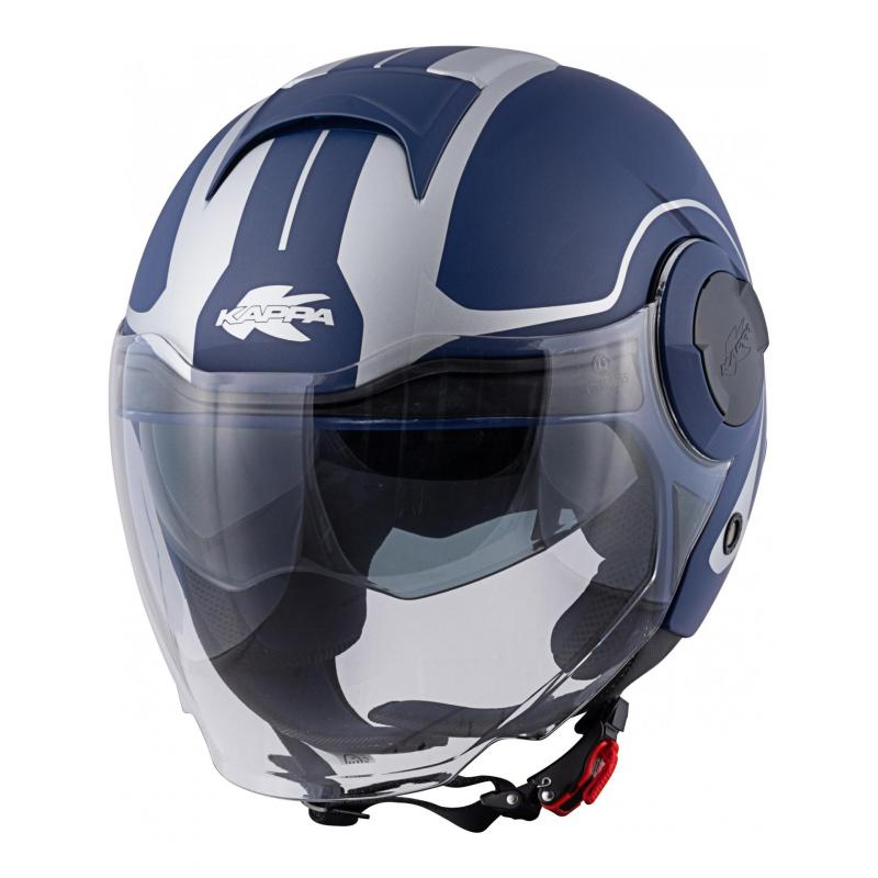 Casque jet Kappa KV37 Oregon Twist bleu/azur mat