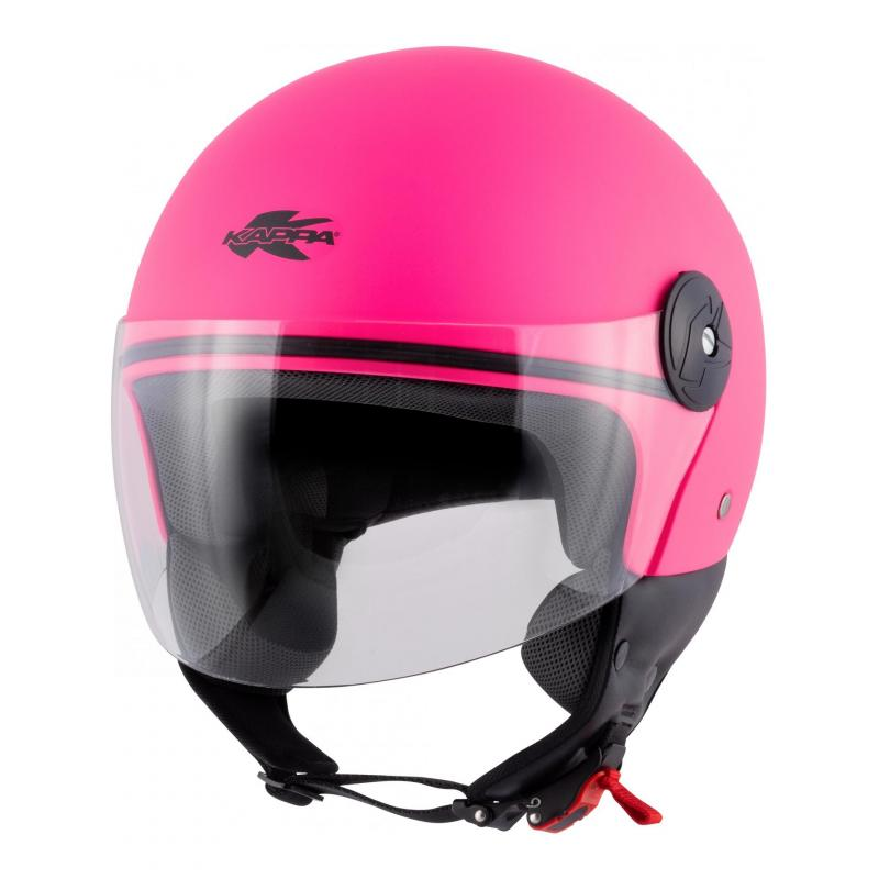 Casque jet Kappa KV40 Hawaii Basic rose mat