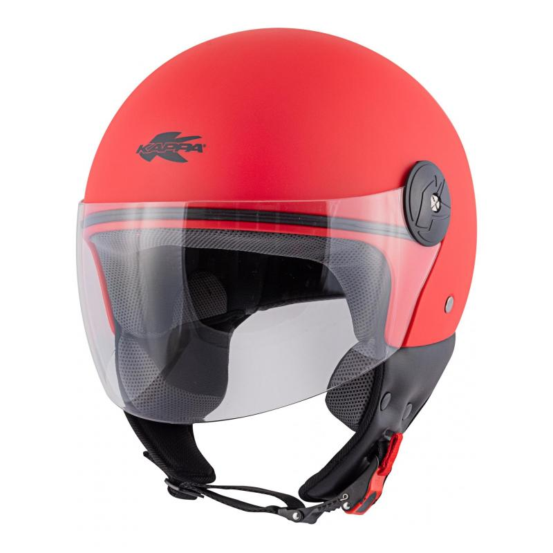 Casque jet Kappa KV40 Hawaii Basic rouge mat