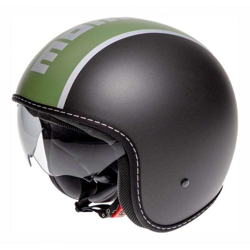 Casque jet Momo Design Blade noir mat/vert