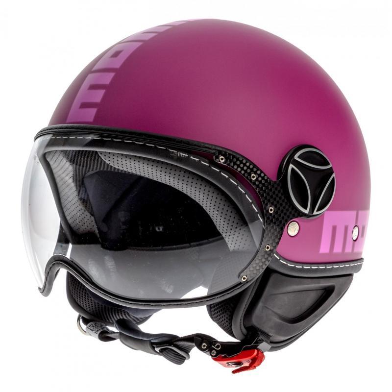 Casque jet Momo Design FGTR Classic violet/rose