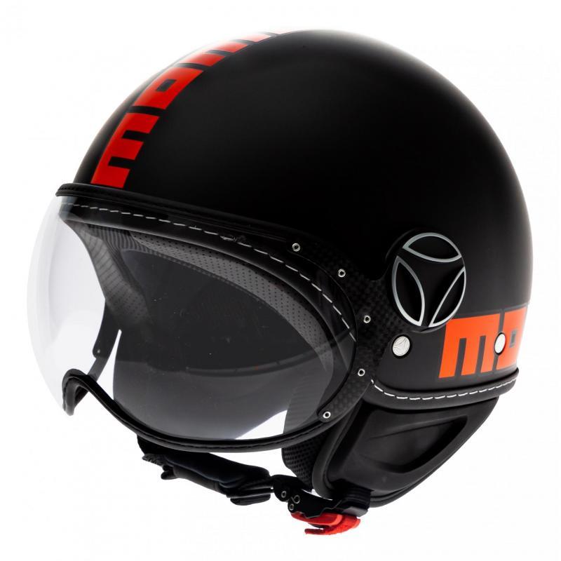 Casque jet Momo Design FGTR Fluo noir mat/orange