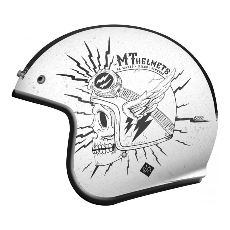 Casque jet MT Helmets Le Mans 2 SV Diler blanc brillant