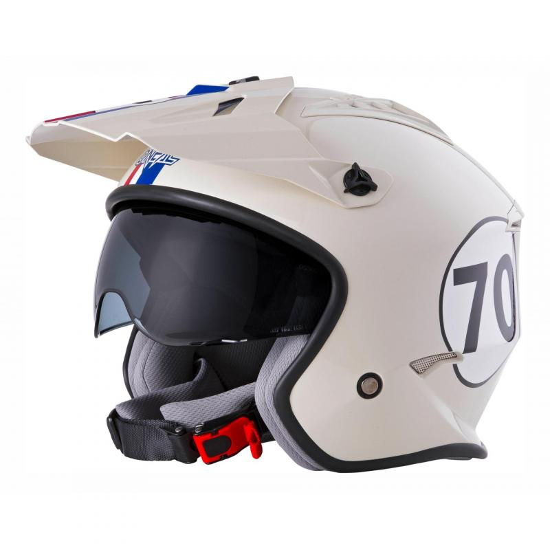 Casque jet O'Neal Volt Herbie blanc/rouge/bleu