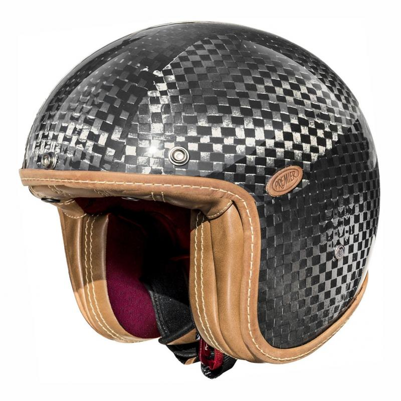 Casque jet Premier Vintage Anniversary collection carbone