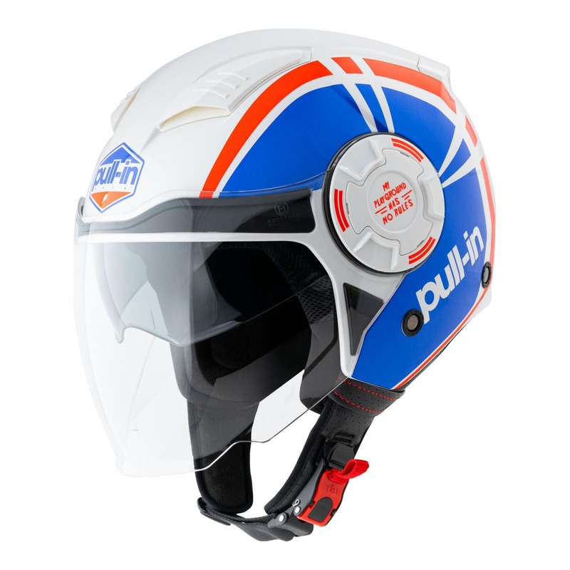 Casque jet Pull-in Graphic bleu/rouge
