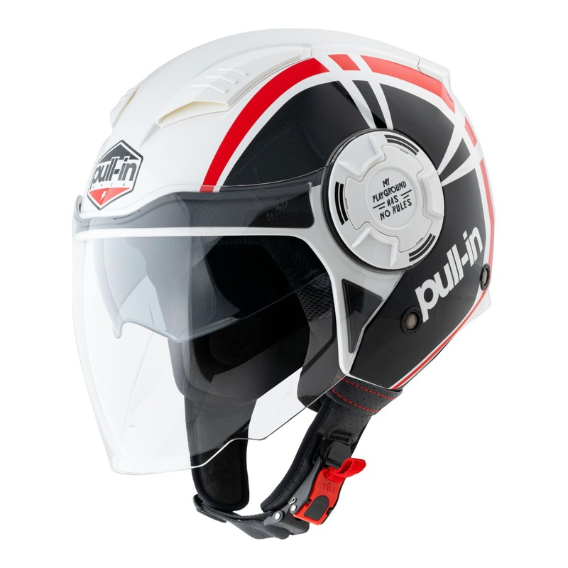 Casque jet Pull-in Graphic rouge/noir