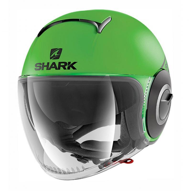 Casque jet Shark Nano Street Neon Mat vert/noir