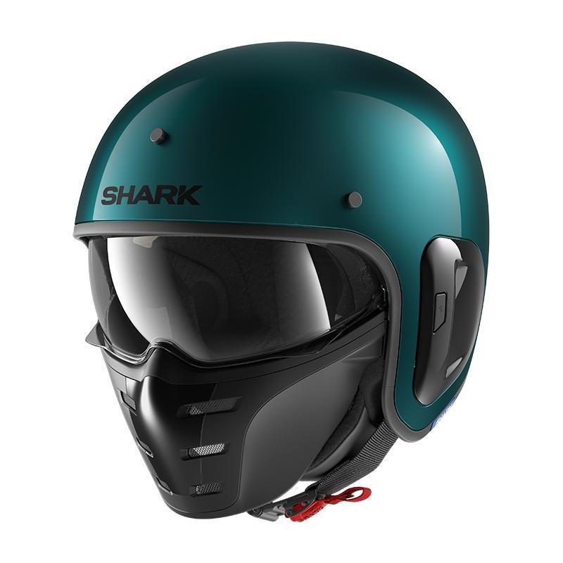 Casque jet Shark S-Drak 2 Blank vert/vert métal