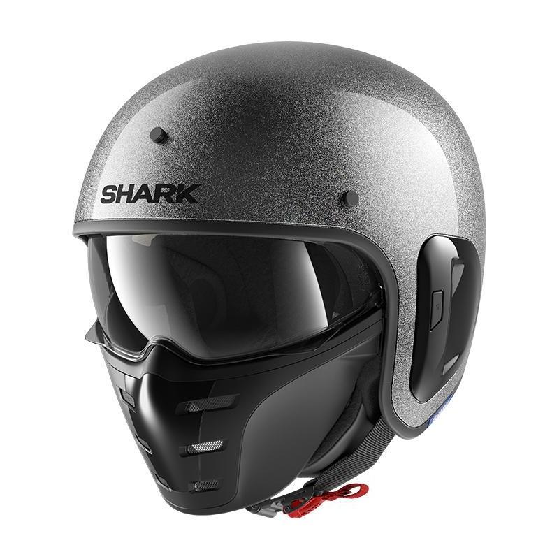 Casque jet Shark S-Drak 2 Glitter argent/argent/glitter
