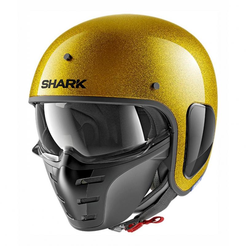 Casque jet Shark S-Drak Blank Glitter or