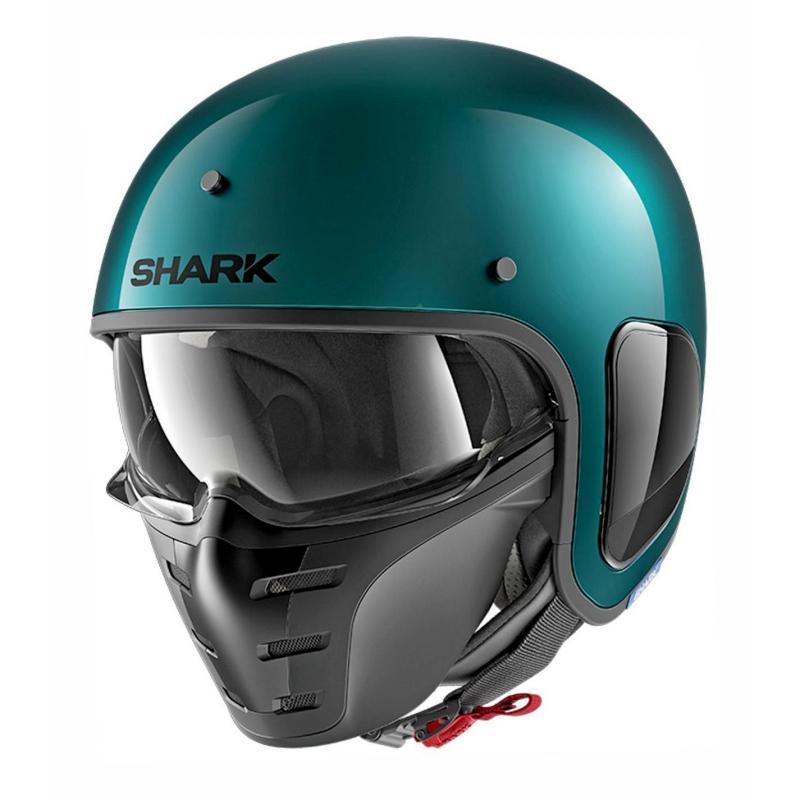 Casque jet Shark S-Drak Blank vert métal