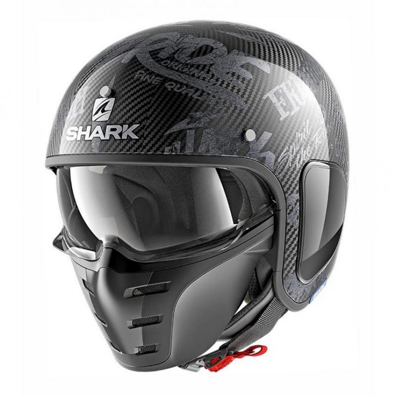 Casque jet Shark S-DRAK FREESTYLE CUP carbone/anthracite