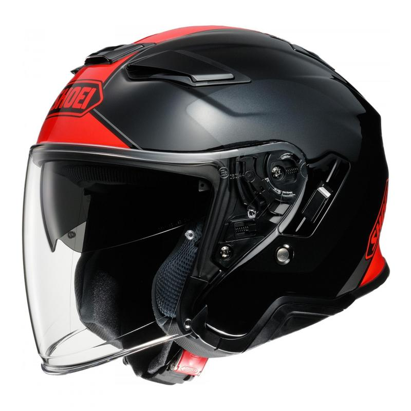 Casque jet Shoei J-Cruise II Adagio TC-1 noir/rouge