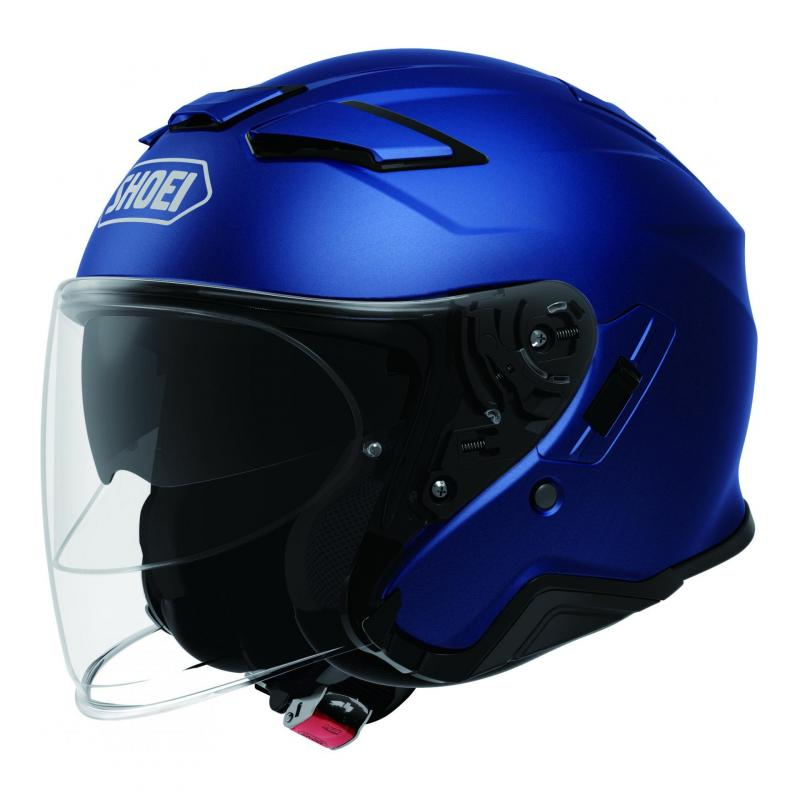 Casque jet Shoei J-Cruise II Mat bleu