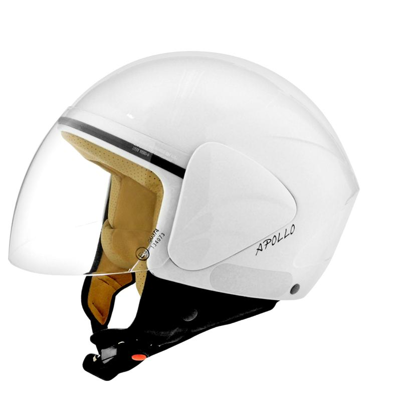 Casque jet TNT APOLLO BLANC BRILLANT