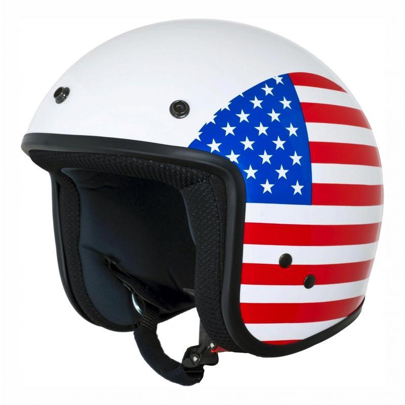Casque jet Vespa Flag USA