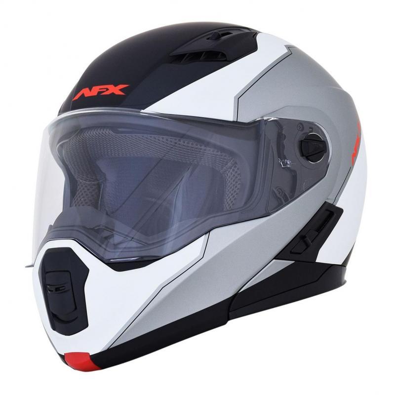 Casque modulable AFX FX-111 blanc/gris/noir mat